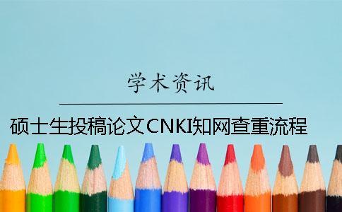 硕士生投稿论文CNKI知网查重流程