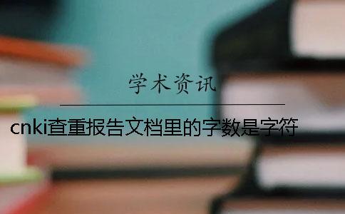cnki查重报告文档里的字数是字符数还是字数