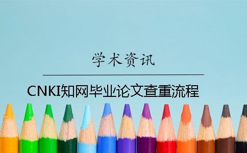 CNKI知网毕业论文查重流程