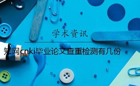 知网cnki毕业论文查重检测有几份报告文档?