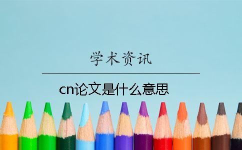 cn论文是什么意思