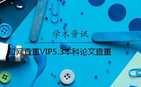 知网查重VIP5.3本科论文查重
